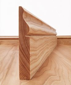 Ogee Solid Ash Skirting Board