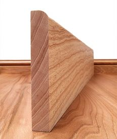 Round Edge Solid Ash Skirting Board