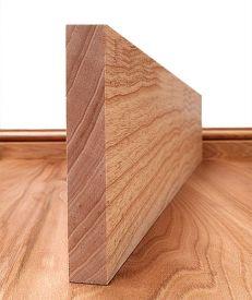 Solid Ash Square Edge Skirting Board