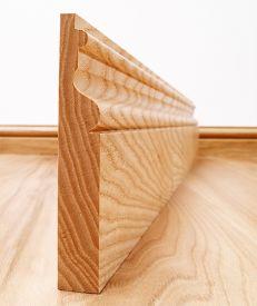 Victoriana Solid Ash Skirting Board