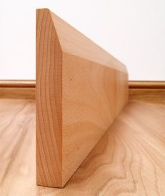 Chamfered Solid Beech Skirting Board