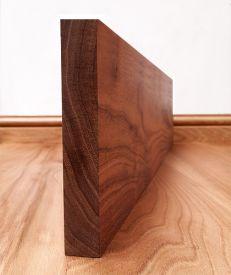 Solid Walnut Square Edge Skirting Board