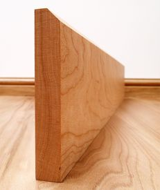 45° Chamfered Solid Cherry Skirting Board