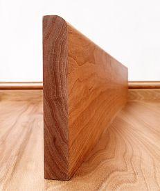 Round Edge Solid Cherry Skirting Board