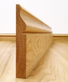 Solid European Oak Ogee Skirting Board