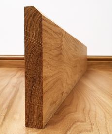 Fumed Dark Oak 45° Chamfered Skirting Board