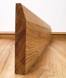 Fumed Dark Oak Chamfered Skirting Board