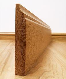 Fumed Dark Oak Scotia Skirting Board