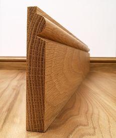 Fumed Dark Oak Torus Skirting Board