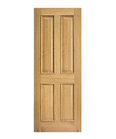 Internal Engineered Oak Four Panel Door
