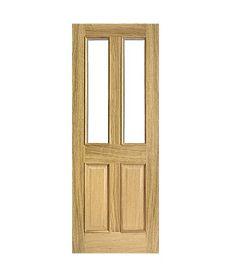 Internal Engineered Oak Glazed Four Panel Door