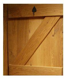 Internal Solid Oak Door Ledged & Braced Kit