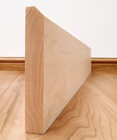 45° Chamfered Solid Maple Skirting Board