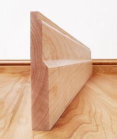 Lambs Tongue Solid Maple Skirting Board