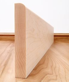 Round Edge Solid Maple Skirting Board