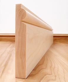 Torus Solid Maple Skirting Board