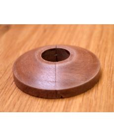Walnut Radiator Pipe Cover showing the joining section