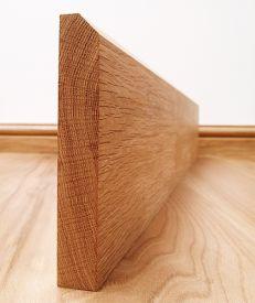 45° Chamfered Solid American White Oak Skirting Board