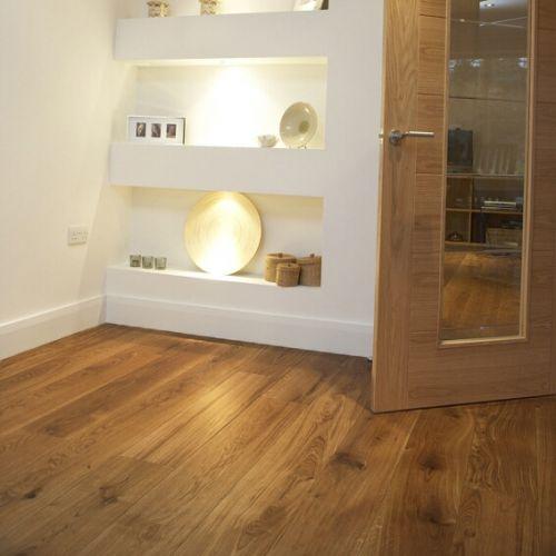 Fumed and Brushed Engineered Oak Flooring