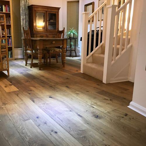 Fumed Engineered Character Oak Flooring