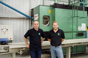 Mark & Tony in front of Talbotts Boiler
