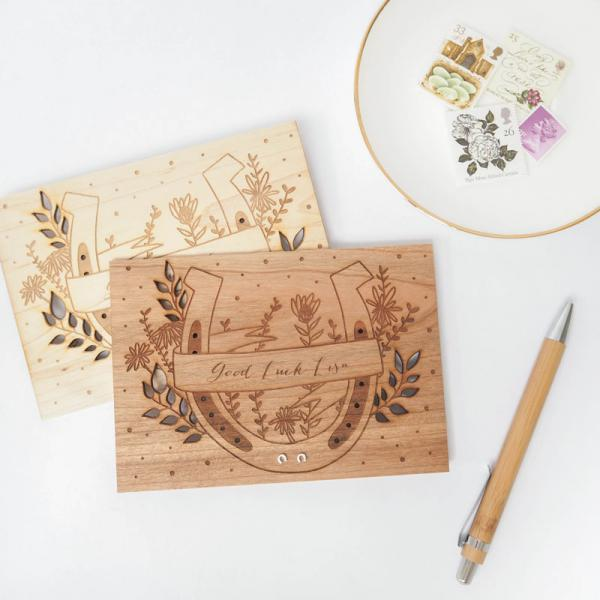 Unique Wooden Greetings Cards by Proper Goose