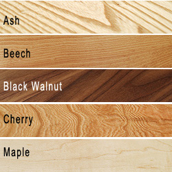 hardwood timber species swatches
