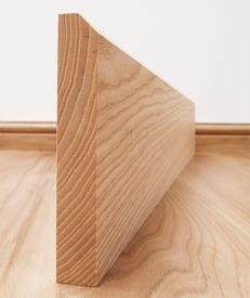 45° Chamfered Solid Ash Skirting Board