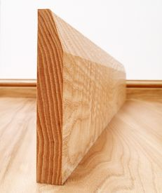 Chamfered Solid Ash Skirting Board