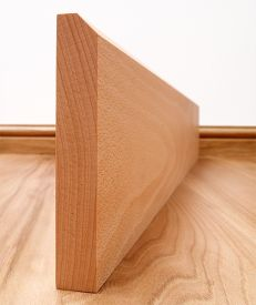 45° Chamfered Solid Beech Skirting Board