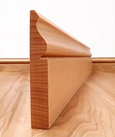 Ogee Solid Beech Skirting Board
