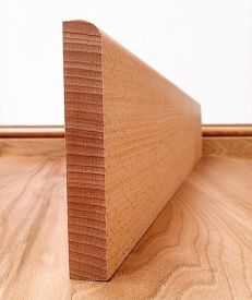 Round Edge Solid Beech Skirting Board