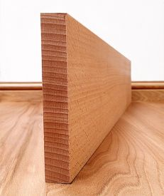 Solid Beech Square Edge Skirting Board