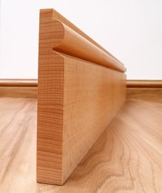 Torus Solid Beech Skirting Board