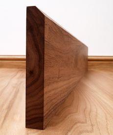45° Chamfered Solid Black Walnut Skirting Board