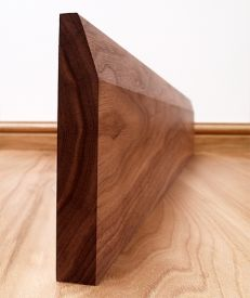 Chamfered Solid Black Walnut Skirting Board