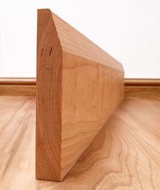 Chamfered Solid Cherry Skirting Board
