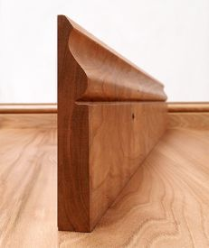 Ogee Solid Cherry Skirting Board