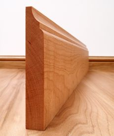 Scotia Solid Cherry Skirting Board
