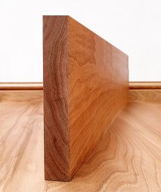 Solid Cherry Square Edge Skirting Board