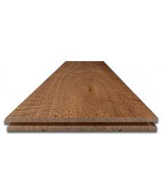 Fumed and Brushed Classic Oak Flooring - Sample
