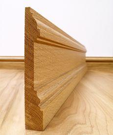 Solid European Oak New England Skirting Board