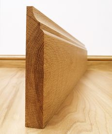 Solid European Oak Scotia Skirting Board