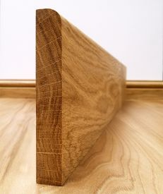Fumed Dark Oak Round Edge Skirting Board