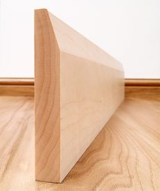 Chamfered Solid Maple Skirting Board
