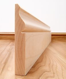 Ogee Solid Maple Skirting Board
