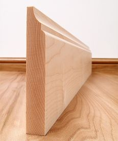 Scotia Solid Maple Skirting Board