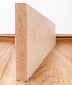 Solid Maple Square Edge Skirting Board