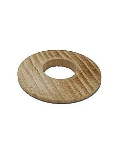 Solid Oak Radiator Pipe Collar/Cover Unfinished