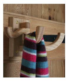 Solid Oak Swivel Door Hook